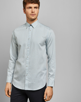 Ted Baker WHAALE Bold geo print cotton shirt