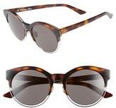 Christian Dior Women's Siderall 1 53Mm Round Sunglasses - Havana/ Palladium