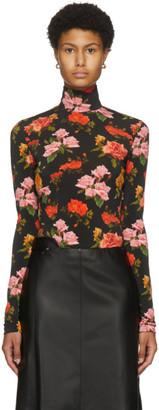 Commission Black Floral Turtleneck