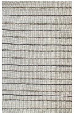 Imagine Home Crescent Striped Handmade Flatweave Leather/Wool Beige Area Rug Rug Size: Rectangle 8' x 10'