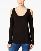 KUT from the Kloth Cold-Shoulder Open-Back Top