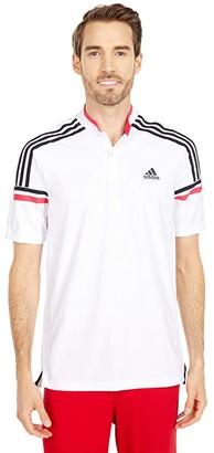 adidas Sport Style Polo (White/Power Pink) Men's Clothing
