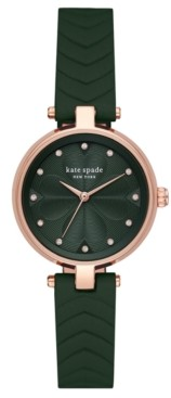 Kate Spade Women's Annadale Green Leather Strap Watch 30mm