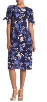 Vince Camuto Puff Sleeve Floral Print Dress (Petite)