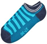 Melton Blue Atoll Stripes Sneaker Socks