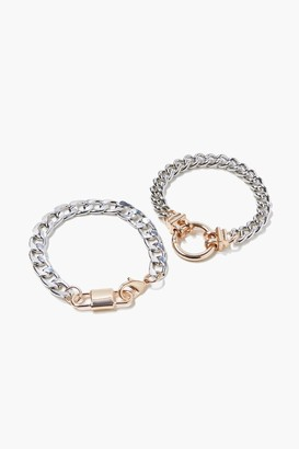 Forever 21 Curb Chain Bracelet Set