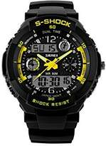 Funme Men's Fashion Dual Time Rappel Backlit Multi-Function Digital Watch