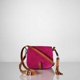 Suede Mini-Saddle Bag