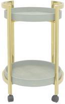 Three Hands Mint 2-Tier Tray Cart
