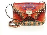 Valentino Rockstud Painted Volcano Leather Shoulder Bag