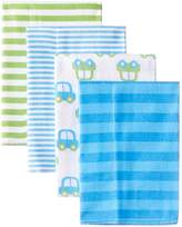 Gerber Baby Boys' 4 Pack Flannel Burp Cloths