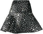 RED Valentino star pattern A-line skirt