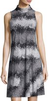 Taylor High-Neck Printed Jersey Dress