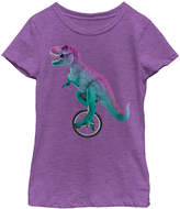 Fifth Sun Purberry T-Rex Unicycle Crewneck Tee - Girls