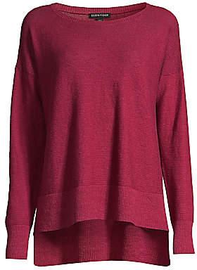 Eileen Fisher Women's Organic Stretch-Linen Crepe Sweater