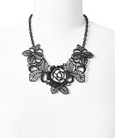 Carole Black Floral Statement Necklace