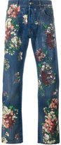 Gucci floral painted jeans