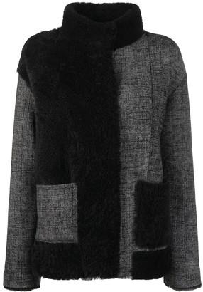 Suprema Panelled Shearling Jacket