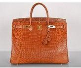 Hermes pristine (PR Matte Fauve Porosus Crocodile 40cm Birkin Bag Gold Hardware