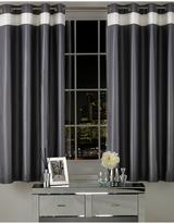 By Caprice Parisian Matt Satin Pleated Eyelet Curtains