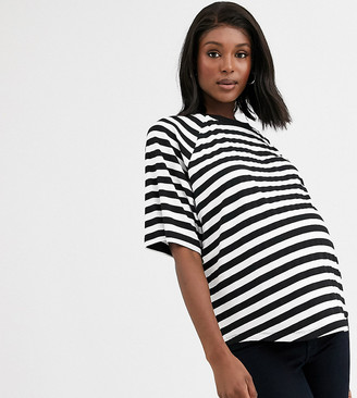 ASOS DESIGN Maternity oversized boxy t-shirt in stripe