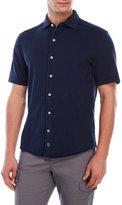 thaddeus Button Front Pique Polo Shirt