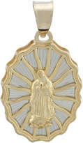 JCPenney FINE JEWELRY Rene Bargueiras 14K Two-Tone Gold Our Lady of Guadalupe Charm
