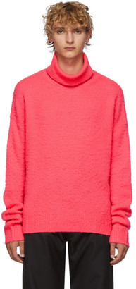 Acne Studios Pink Cashmere and Wool Oversized Turtleneck