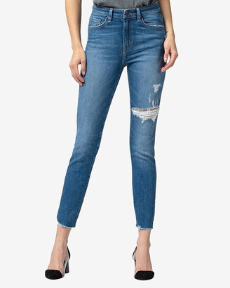 Express Flying Monkey High Waisted Distressed Skinny Jeans