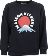 Kitsune Navy Mont Fuji Sweatshirt
