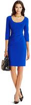 Diane von Furstenberg Lillian 3/4 Sleeve Ruched Sheath Dress