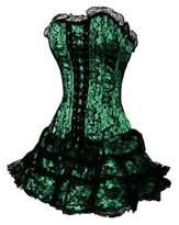 Alivila.Y Fashion Corset Alivila.Y Fashion Gothic Lace Trim Corset 2162 With G-String & TuTu-S