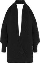 Chalayan Cross front and draped back wool and cashmere-blend sweater