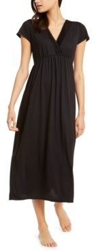 Charter Club Lace-Trim Long Nightgown, Created for Macy's
