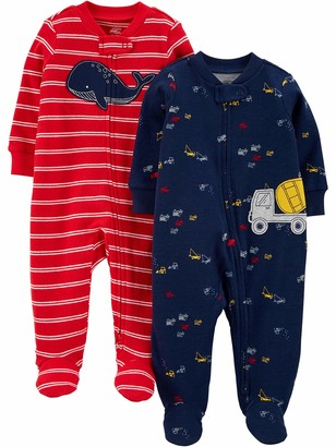 Simple Joys by Carter's Baby Boys 2-Pack Fleece Footed Sleep and Play