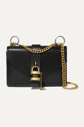 Chloé Aby Chain Leather Shoulder Bag - Black