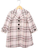 Helena Girls' Lightweight Plaid Coat