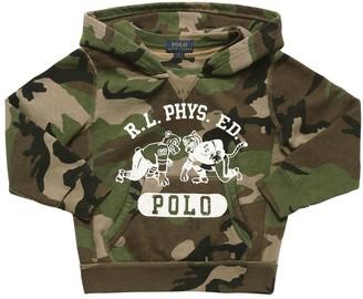 Ralph Lauren Camo Print Cotton Blend Sweatshirt