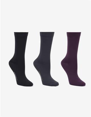 Donna Karan Soft Microfiber 3 Pc Crew Dress Sock