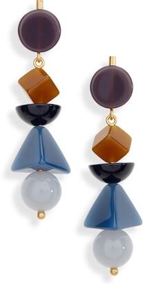 Madewell Geometric Stack Statement Earrings