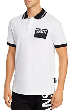 Versace Logo Patch Regular Fit Polo