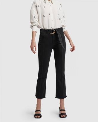 Aje Clover Flare Jeans