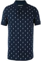 Neil Barrett embroidered lightning bolt polo shirt