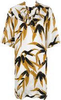 Marni swash print ruffle dress