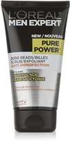L'Oreal Men Expert Pure Power Anti-Imperfection Scrub, Exfoliating Face Cleanser, 150 ML