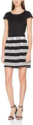 Naf Naf Women's KEMERIA R1 Knee-Length A-Line Short Sleeve Party Dress