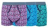 Burton Burton 3 Pack Blue, Purple And Green Geometric Print Trunks