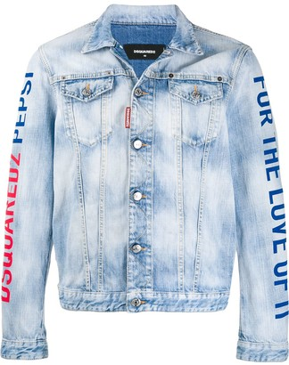 DSQUARED2 Logo Print Denim Shirt