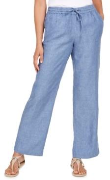 Charter Club Linen Drawstring-Waist Pants, Created for Macy's
