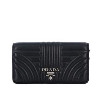 Prada Nappa Leather Shoulder Bag With Stitching And Logo